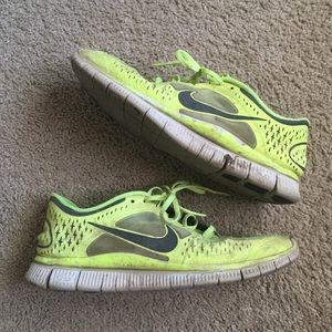 Nike Free Run 3 Volt Reflective Running Shoes 11